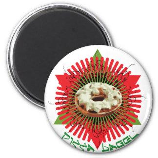 Pizza Bagel : Jewish Italian Magnet