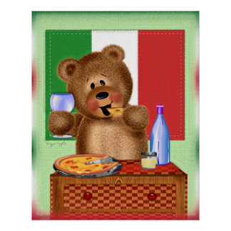 Pizza Bear Poster