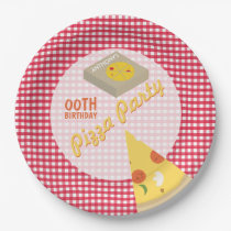 Pizza Birthday Party Paper Plate