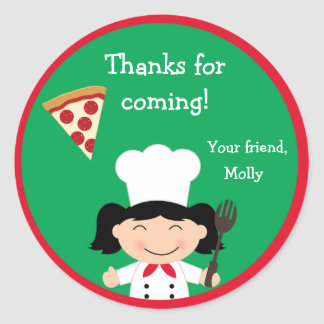 Pizza Birthday Party Sticker