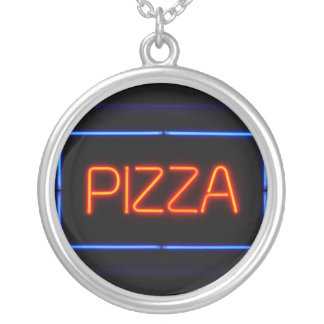 PIZZA Blue & Red Neon Sign Pendants