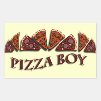 Pizza Boy Rectangular Sticker
