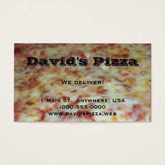 """Pizza"" Business Cards"