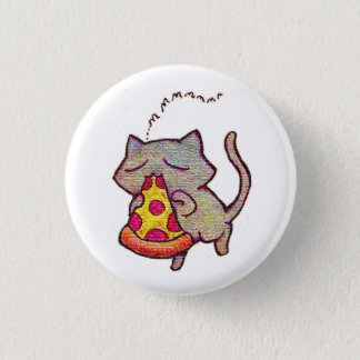 Pizza Cat! 3 Cm Round Badge