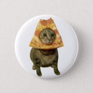 Pizza Cat Design 6 Cm Round Badge