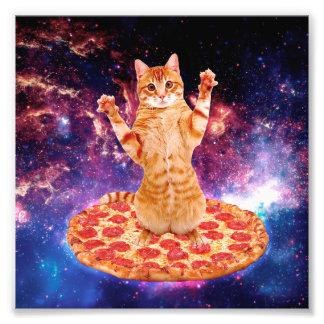 pizza cat - orange cat - space cat photo print