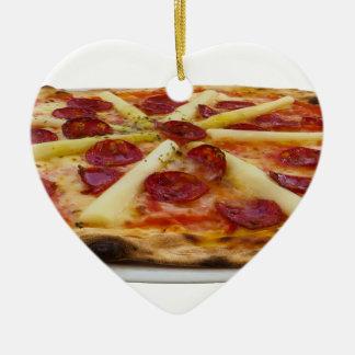 Pizza Ceramic Heart Decoration