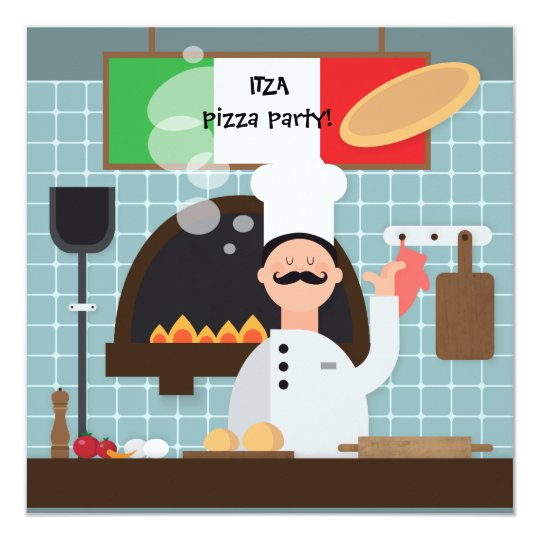 Pizza Chef Invitation