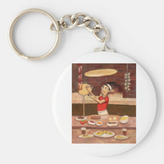 Pizza Chef (JOH-007) Basic Round Button Key Ring