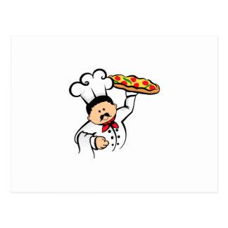 PIZZA CHEF POSTCARD