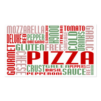 pizza (chit chat) Double-Sided standard business cards (Pack of 100)