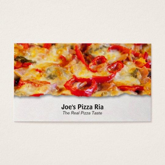 Pizza Customisable Food Closeup Business Card