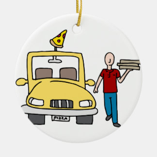 Pizza Delivery Driver Christmas Ornament