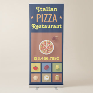 Pizza Delivery | Pizza Cafe | Pizza Restaurant Retractable Banner