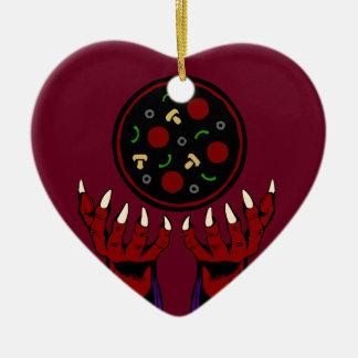 Pizza Demon – Summoner of Deliciousness Ceramic Heart Decoration
