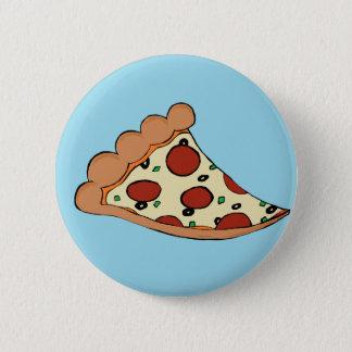 Pizza design 6 cm round badge