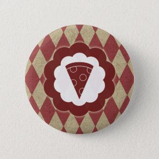 pizza diamonds 6 cm round badge