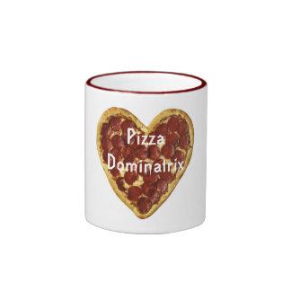 Pizza Dominatrix Ringer Mug