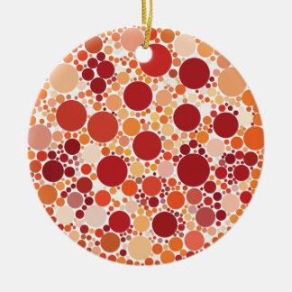 pizza dots christmas ornament