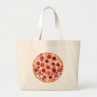 pizza dots large tote bag