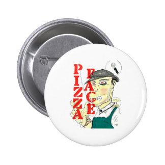 """""""Pizza Face"""" 6 Cm Round Badge"""
