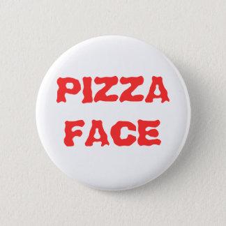 PIZZA FACE 6 CM ROUND BADGE
