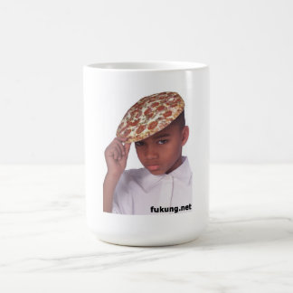 pizza hat coffee mug