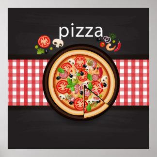 Pizza Illustration Poster