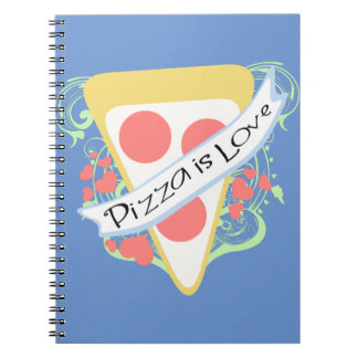 Pizza is Love Spiral Notebook