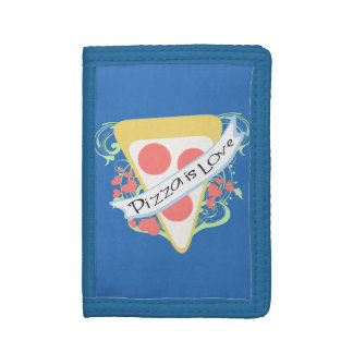 Pizza is Love Trifold Wallets