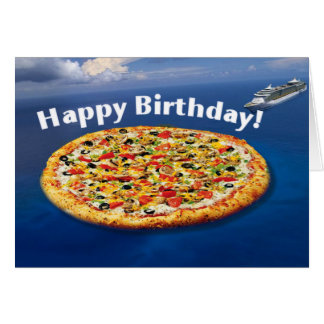Pizza Island Birthday Card