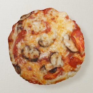 Pizza Italian Theme Round Cushion