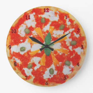 pizza large clock