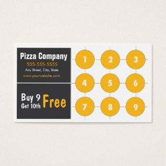Pizza Loyalty Business Card