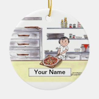 Pizza Maker - Female Christmas Ornament