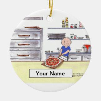 Pizza Maker - Male Christmas Ornament