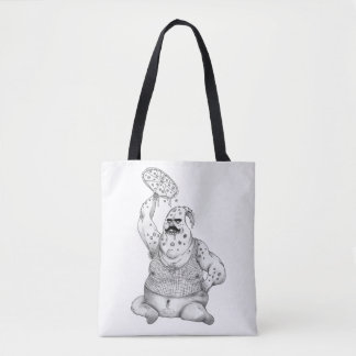 Pizza Man Tote Bag