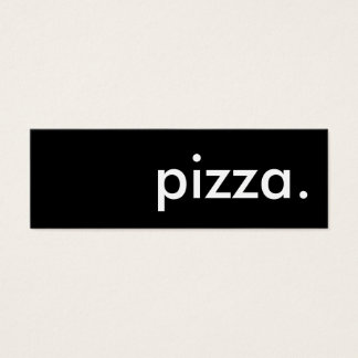 pizza. mini business card