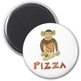 Pizza Monkey 6 Cm Round Magnet