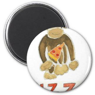 Pizza Monkey Refrigerator Magnet