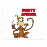 Pizza Monkey Party Animal Postcards