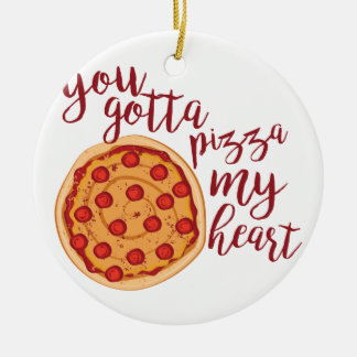 Pizza My Heart Christmas Ornament