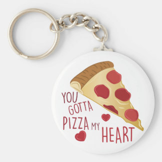Pizza My Heart Key Ring