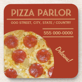 Pizza Parlor custom coasters