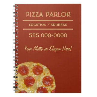 Pizza Parlor custom notebooks
