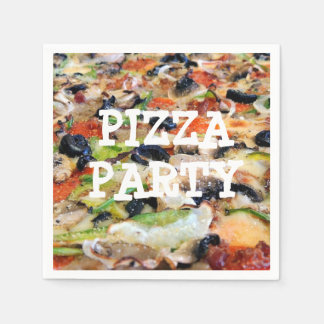 Pizza Party Birthday Party Paper Napkins
