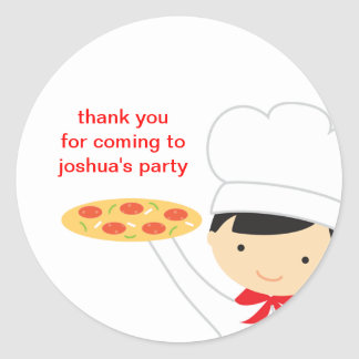 Pizza Party Boy Stickers