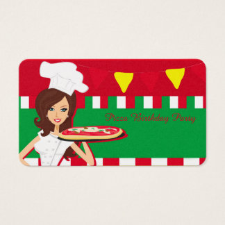 Pizza Party Business Card