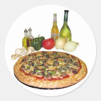 Pizza Party Classic Round Sticker