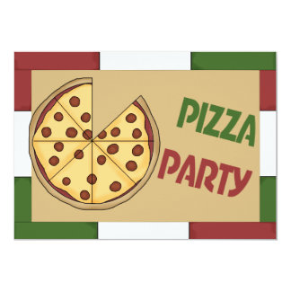Pizza Party Custom Invitation